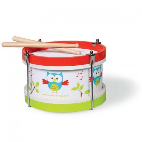 Tambour hibou lou scratch - jouets musique