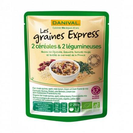 Les graines express 2 céréales - 2 Légumineuses