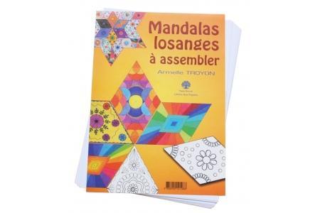 20 Mandalas losanges à assembler Coloriage