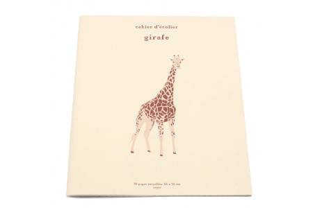 Cahier d'écolier Girafe 96 pages