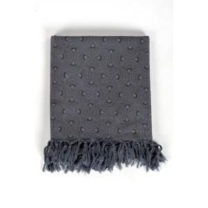 Cheche foulard gris et noir