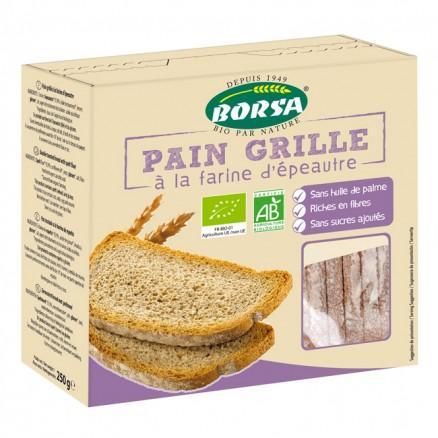 Pain grillé à la farine d-#039;épeautre
