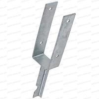 Support de poteau à sceller en U 7x7cm acier galvanisé