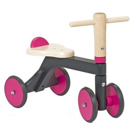 Porteur jasper toys gris fuschia ecologique