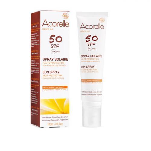 Spray solaire bio SPF50 Haute protection - Enfants et peaux sensibles - 100ml