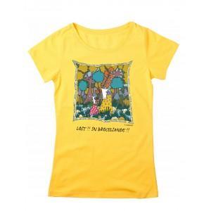Tee-shirt coton bio jaune Lost in Brocéliande
