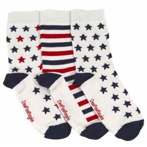 Chaussettes étoiles rouges et bleues