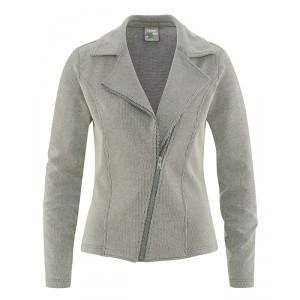 Veste grise courte femme coton bio chanvre Thelma