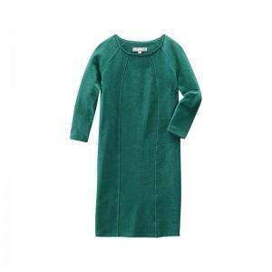 Robe verte pacific vintage en chanvre et coton bio Andréa
