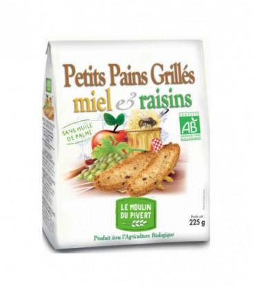 Petits Pains Grillés Miel - Raisins bio