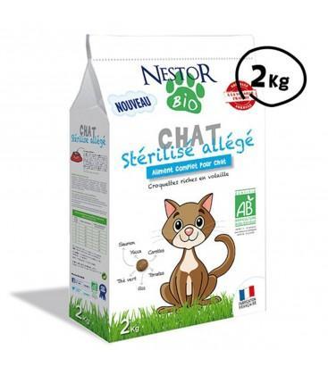 Croquettes allégées pour chat stérilisé bio - SANS CÉRÉALES