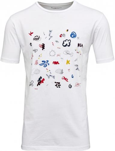 T-Shirt With Concept Print Bright White