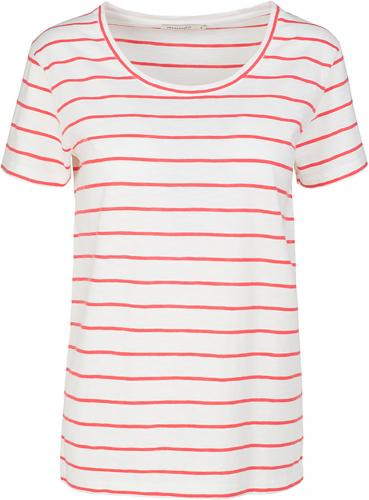 Josi Stripes Off White-Coral Red