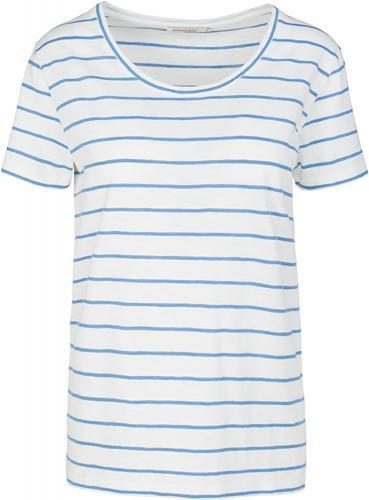 Josi Stripes Off White-Azure Blue