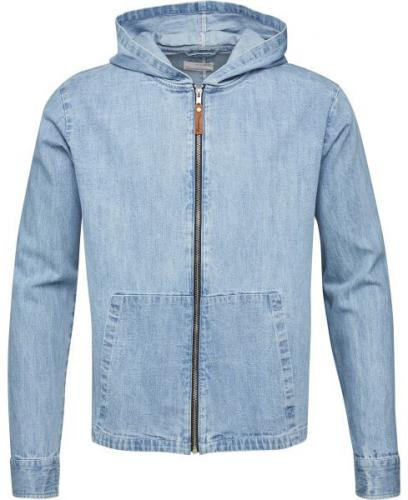 Denim Hood Jacket Bleached Blue