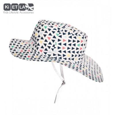 Chapeau blanc et imprimé Fun fair anti-UV