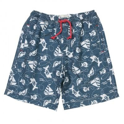 Short de bain poisson affamé