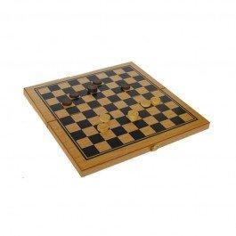Coffret Jeu de Dames et Backgammon en bois