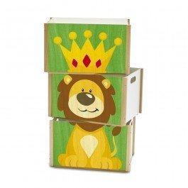 Coffre à jouets Lion