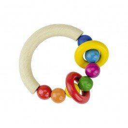 Hochet demi-cercle avec anneaux