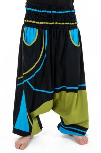 Sarouel elastique grande taille mixte noir bleu vert Neonew