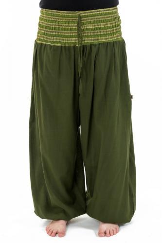 Pantalon sarouel grande taille mixte army green Pakho