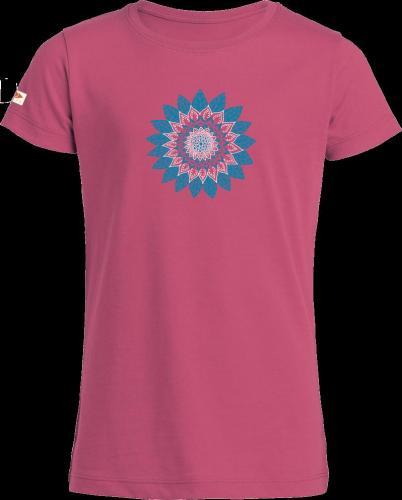 """T-shirt col rond imprimé """"Fleur"""" pour fille"""