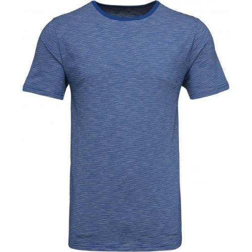 Short Sleeve Striped T-shirt Strong Blue