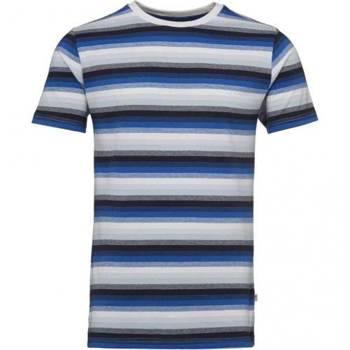 Short Sleeve Narrow Striped T-shirt Total Eclipse