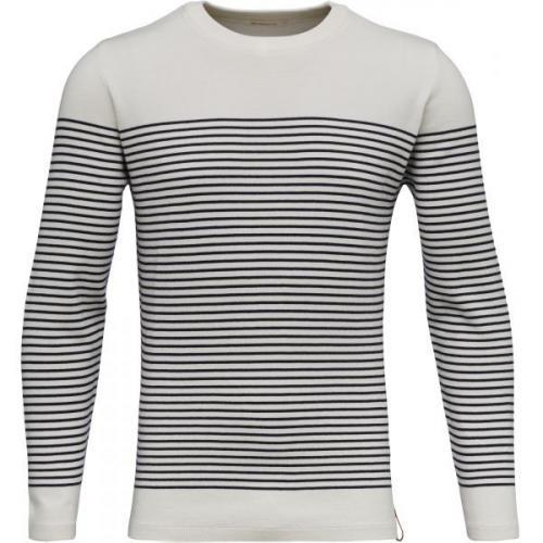 Striped O-Neck Knit Star White