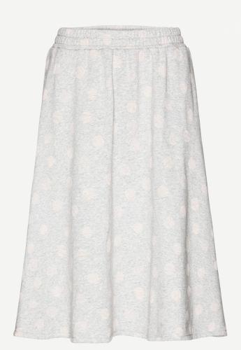 Elana Bubble Dots Light Grey Melange Powder