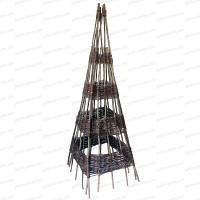 Pyramide Noisetier 180cm de haut tressée d'osier