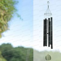 Carillon à vent Géant en aluminium noir