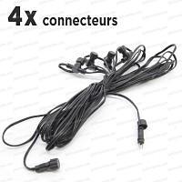 Cable Rallonge de 12m, 4 connecteurs basse tension 12V