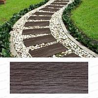 Dalle exterieur imitation bois - Caoutchouc recyclé 25x60cm