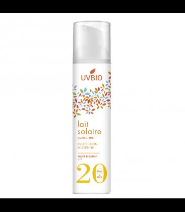 Crème solaire bio indice 20