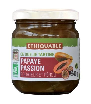 Confiture Papaye Passion bio et équitable
