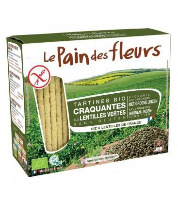 Tartines craquantes aux lentilles vertes bio - sans gluten