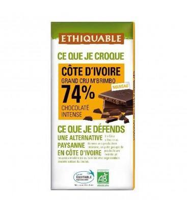 Chocolat Noir Grand Cru M'Brimbo 74% bio - équitable