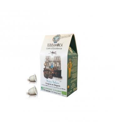 Capsules biodégradables de café bio NELSON (déca) x15