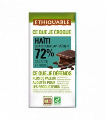 DESTOCKAGE - Chocolat Noir Grand Cru 72% bio - équitable