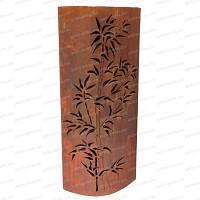 Colonne ovale Bambou en métal 50x28xh.120cm