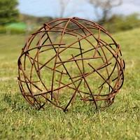 Boule fil de fer - Déco jardin en métal Diam. 50cm