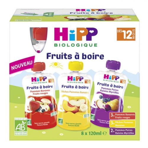 HiPP pack Fruits à boire 12m