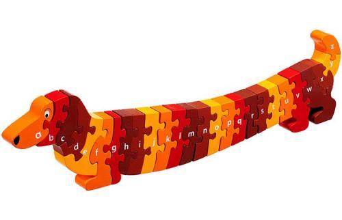 Puzzle en bois Chien Alphabet