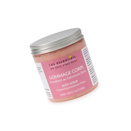 Gommage corps Geranium rosa