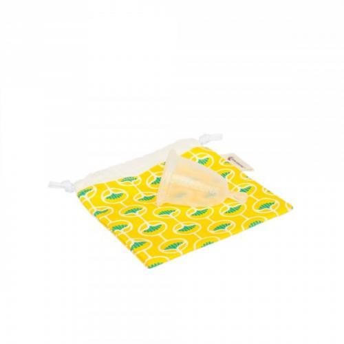 Cup féminine - Taille 1 - Pochette jaune - Coupe menstruelle fabriquée en France