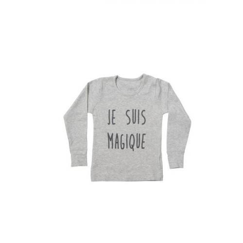 Tee-Shirt Fille apaisant manches longues « JE SUIS MAGIQUE »