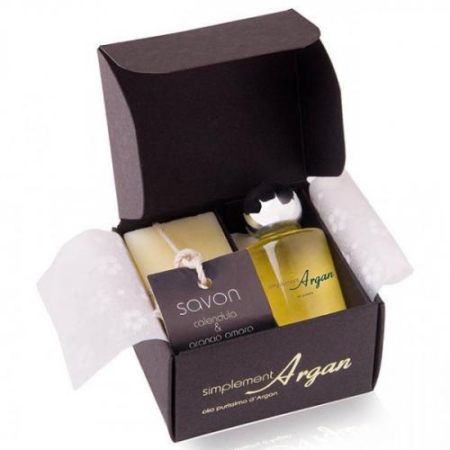 COFFRET Savon invité  ARGAN et LAVANDE + huile d'argan pure de 10ml.
