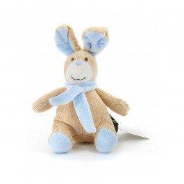 Peluche lapin bleu assis 20 cm